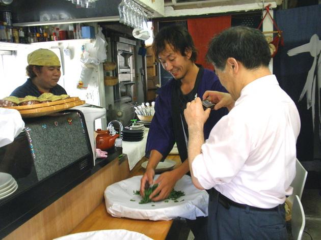 お茶もみ体験IN東京 小俣商店01